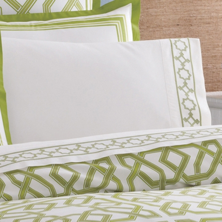 Jonathan Adler Green Parish Duvet Cover - Twin