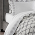 Jonathan Adler Grey Embroidered Hollywood Sheet Set - King