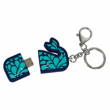 Jonathan Adler Whale Keychain with USB Flash Drive