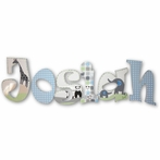 Josiah Jungle Animals Hand Painted Wall Letters