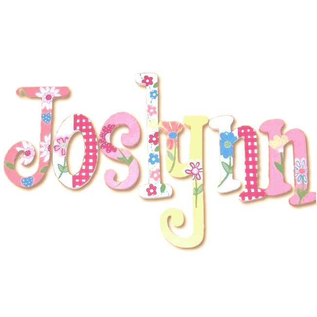 joslynn spring daisies hand painted wooden hanging wall letters
