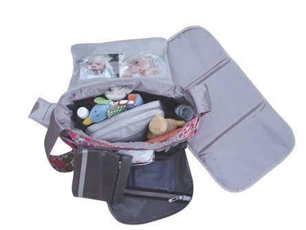 Be All Diaper Bag in Black Silver
