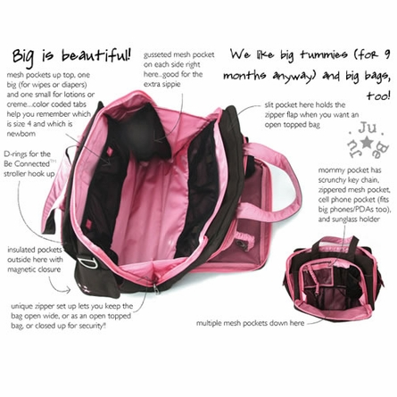 Be Prepared Diaper Bag in Black Silver