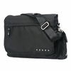Messenger Diaper Bag in Black Silver
