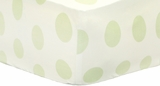 Jumbo Dot in Apple Crib Sheet $(+36.00)