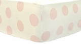 Jumbo Dot in Rose Crib Sheet $(+36.00)