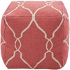 Jumbo Lattice Pouf in Ivory and Paprika