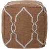 Jumbo Lattice Pouf in Mocha and Light Blue