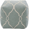 Jumbo Lattice Pouf in Papyrus and Slate Blue