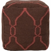 Jumbo Lattice Pouf in Red and Chocolate