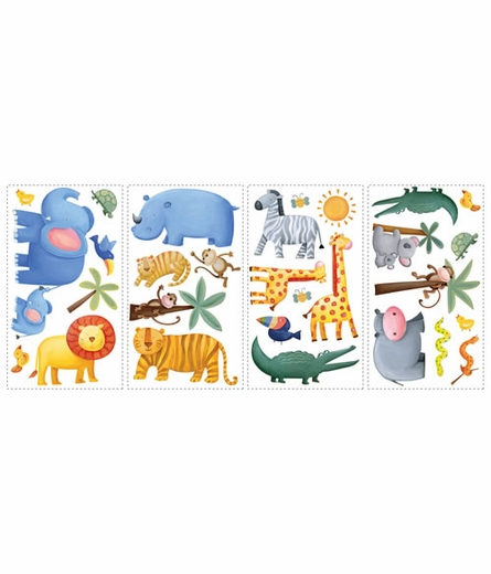 Jungle Adventure Peel & Stick Appliques