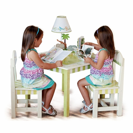 Jungle Alphabet Table and Set of 2 Chairs