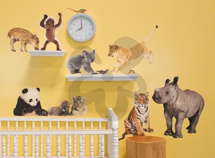 Jungle Babies Peel & Place Wall Stickers