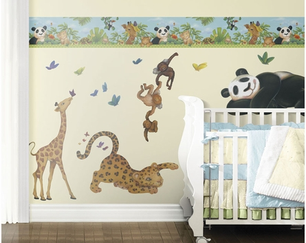 Jungle Friends Pre-Pasted Wallpaper Border