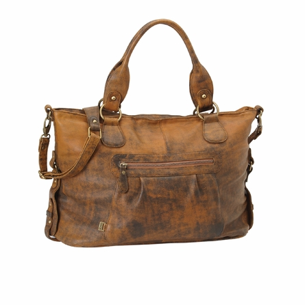 Jungle Leather Tote Diaper Bag