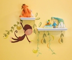 Jungle Monkeys Small Peel & Place Wall Stickers