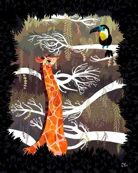 Jungle Snack Poster Wall Decal