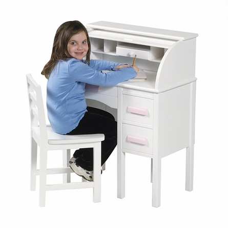 Junior Roll-Top Desk - White
