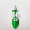 Jupiter Neon Green Clear Crystal Wall Sconce
