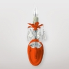 Jupiter Neon Orange Clear Crystal Wall Sconce
