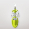 Jupiter Neon Yellow Clear Crystal Wall Sconce