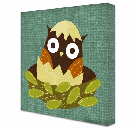 Just Hatched Owl Canvas Reproduction