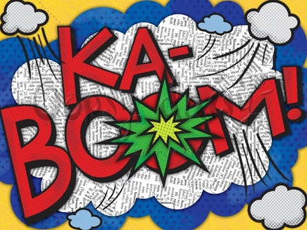 KaBoom! Canvas Wall Art