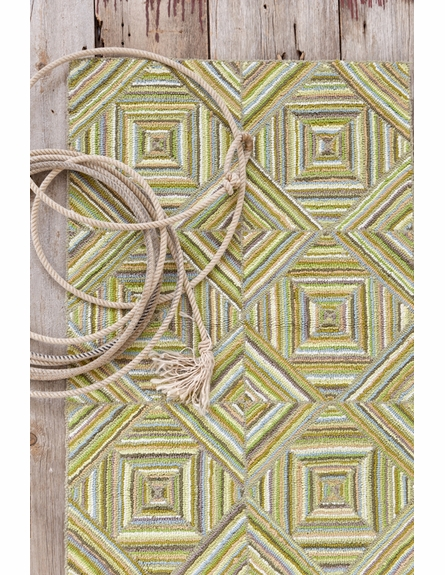 Kaledo Green Cotton Rug