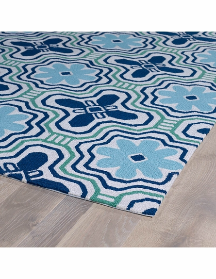 Kaleidoscope Matira Rug in Ivory and Blue