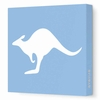 Kangaroo Silhouette Canvas Wall Art