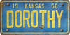 Kansas Custom License Plate Art