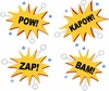 Kapow! Bam! Pow! Zap! Paint by Number Wall Mural