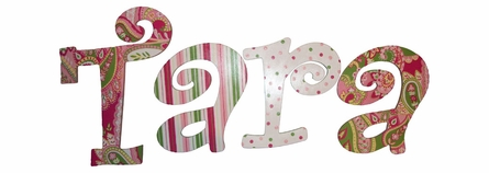 Karli Paisley Hand Painted Wall Letters