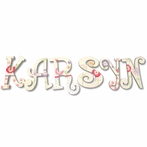 Karsyn Spring Flowers Hand Painted Wall Letters