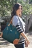 Kate Diaper Bag - Dark Teal and Saddle