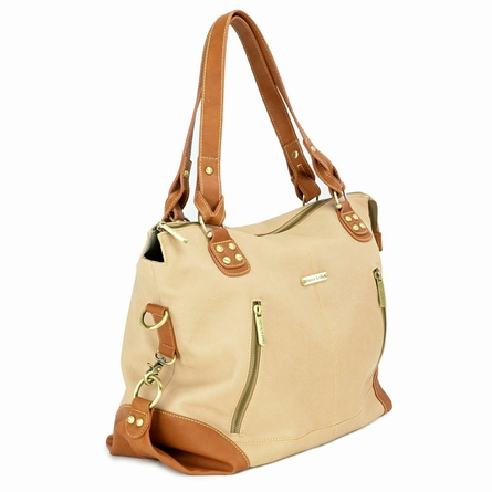 Kate Diaper Bag - Sand and Saddle