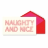 Kate Spade Naughty and Nice Holiday Cards