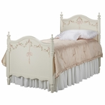 Kate Twin Bed in Linen with Ribbons and Roses Motif