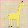 Katherine's Giraffe Canvas Reproduction