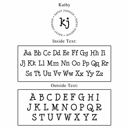 Kathy Personalized Self-Inking Stamp