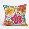 Kaui Blooms Throw Pillow