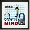 Keep an Open Mind Framed Art Print