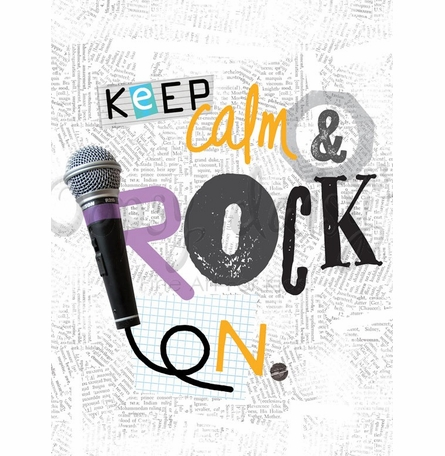 Keep Calm and Rock On Poster Wall Decal