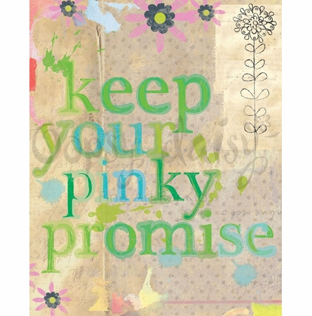 Keep Your Pinky Promise Canvas Wall Art