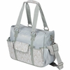 Kelly Commuter Diaper Bag in Blue Filigree