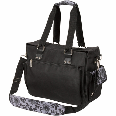 Kelly Commuter Diaper Bag in Lace Floral