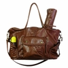 Kelly Leather Diaper Bag - Cognac Diesel