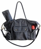 Kelly Leather Diaper Bag - Gray Distressed