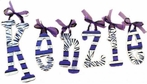 Kenzie Purple Zebra Print Hand Painted Wall Letters