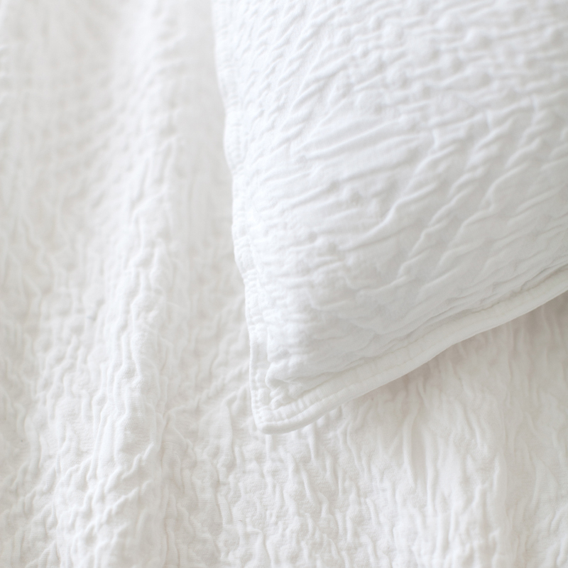Kerala Matelasse White Coverlet By Pine Cone Hill